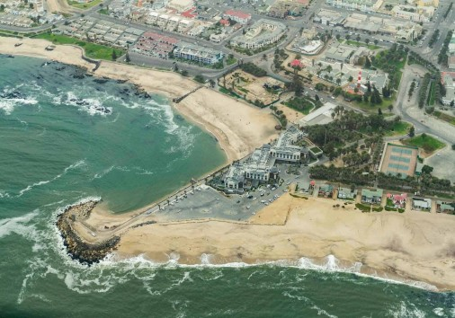 Aerial View Of The Southern End Of Swakopmund