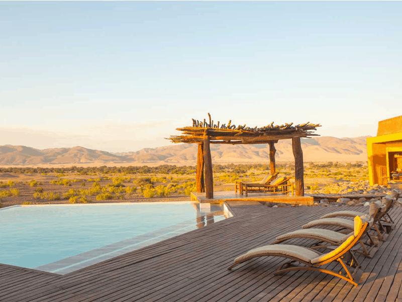 Pembury Tours Okahirongo Elephant Lodge Kunene Region Namibia Accommodation Pool Deck