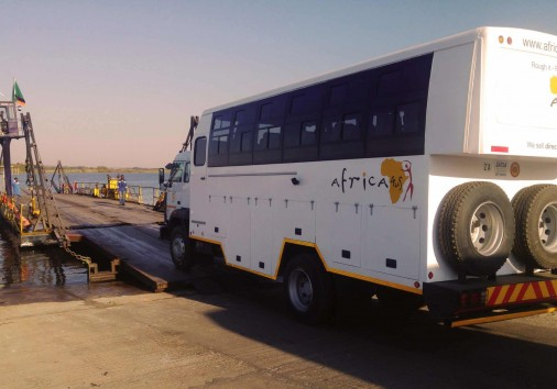 Truck At Kazangula Ferry