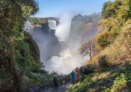 The Victoria Falls Is The Largest Curtain Of Water In The World (1708 Meters Wide). The Falls And The Surrounding Area Is The National Parks And World Heritage Site Zambia, Zimbabwe.