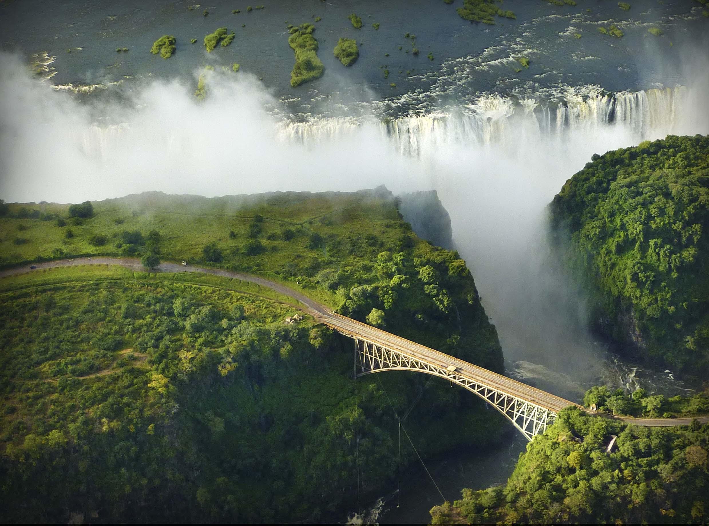 Slider Aerial Falls