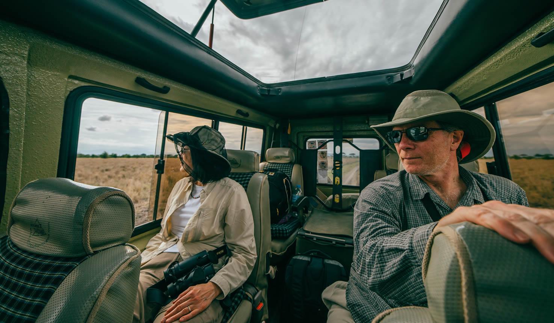Tourist On Safari Africa