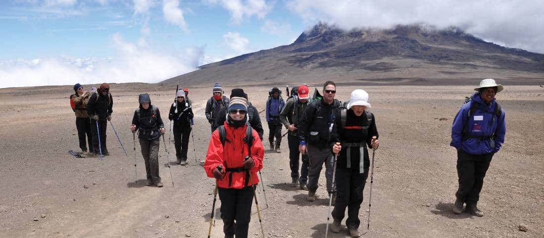 Incredible Landscape Of Mt Kilimanjaro Tanzania Mweka Route