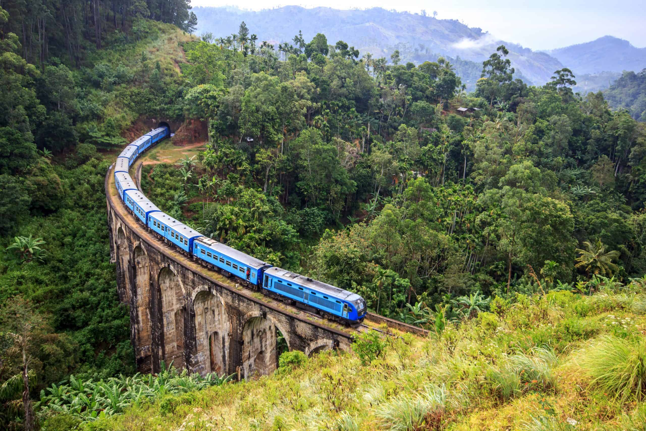 Train On The Nine Arch Bridge Shutterstock 376030297