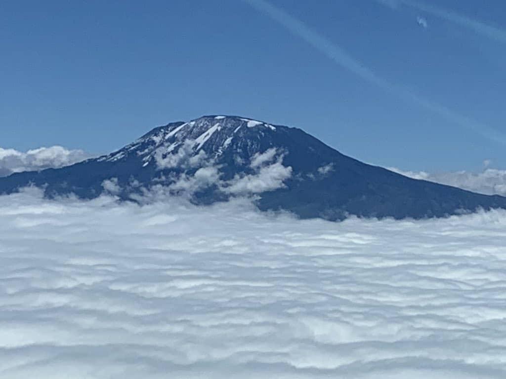 Mt. Kilimanjaro View From Tanzania Airways