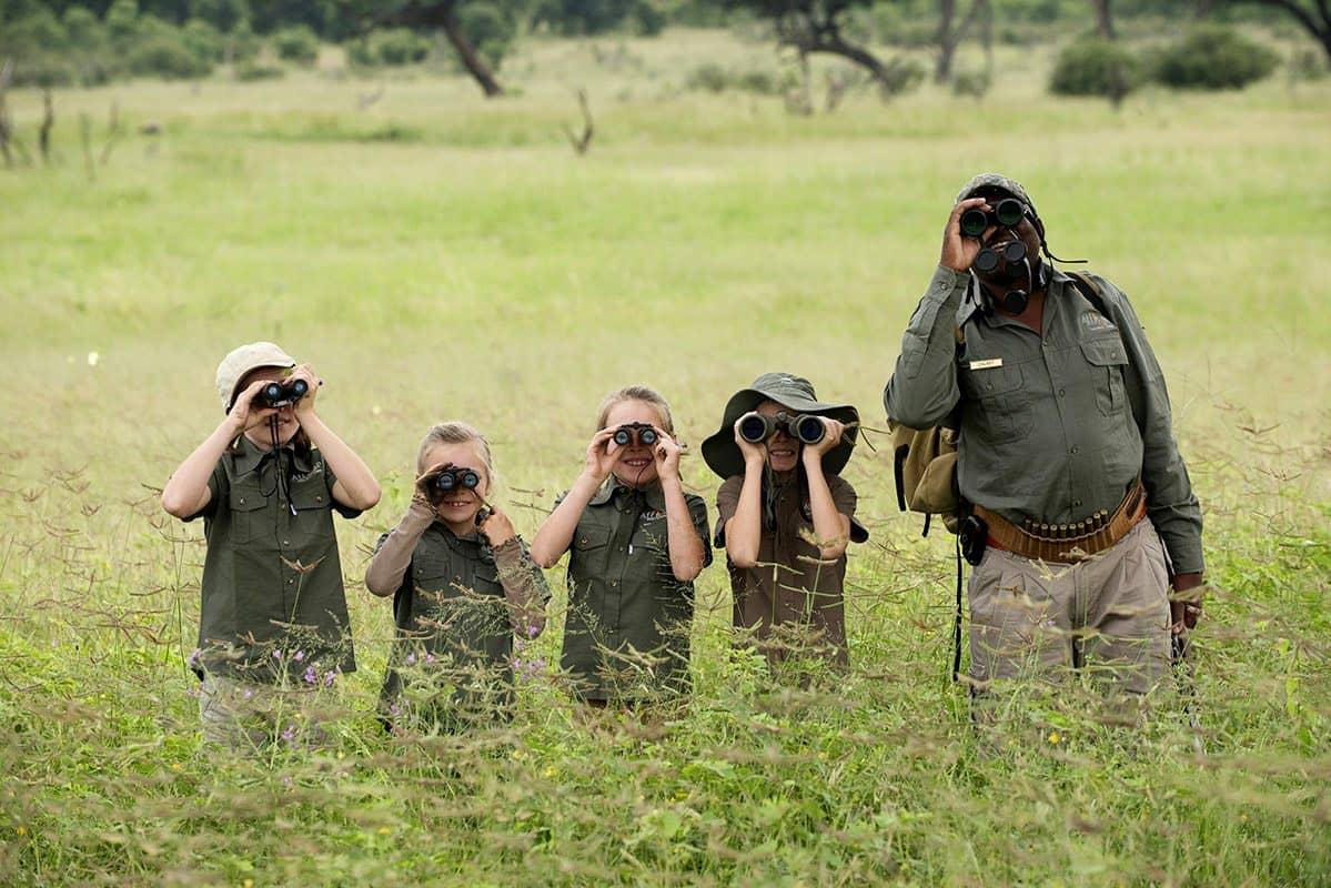 Zimbabwe Hwange Africanbushcamps Somalisaacacia Family Spottinggame