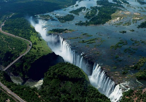 Victoria Falls Flight over the falls