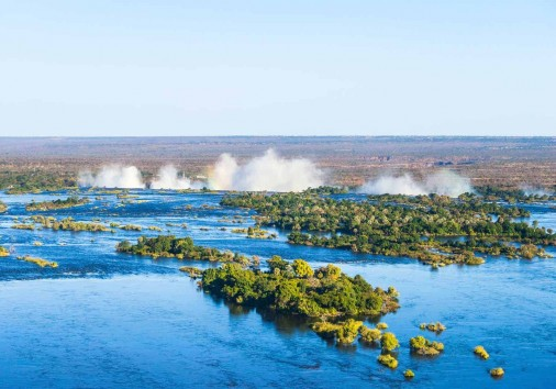 Zambezi River And Victoria Falls, The Largest Curtain Of Water I