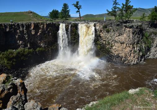 Orkhon Waterfall.