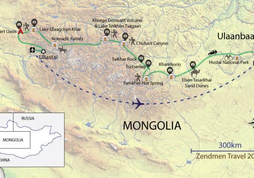 Zavkhan Land Of Nomads Map Bigger