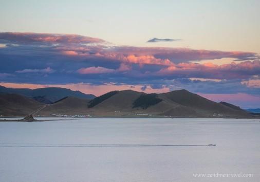Sunset Terkhiin Tsagaan Lake