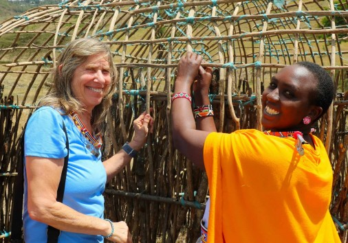 22. Masai Magic One Horizion Spare Day In Nairobi Safari Helping The Women Build A New Home, A Manyatta Made From Sticks And Mud, Is All Part Of The Experience