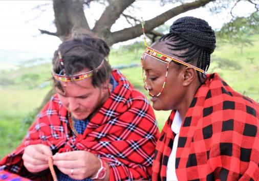 56. Making Jewelery With The Masai's Guidance