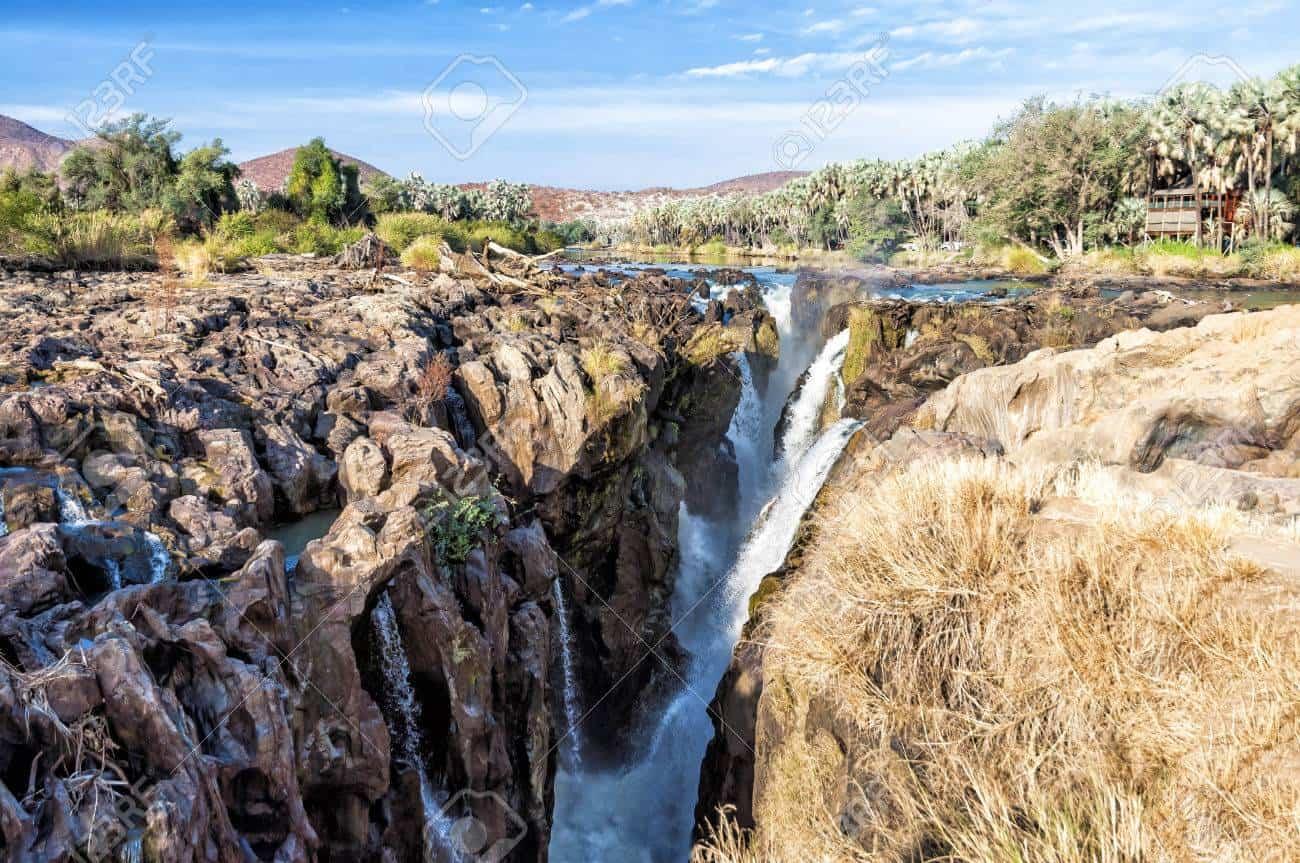 Epupa Falls On The Border Of Namibia And Angola