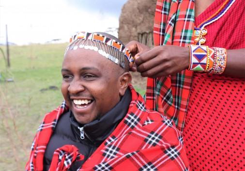 66. A Guest Beign Dressed As A Masai