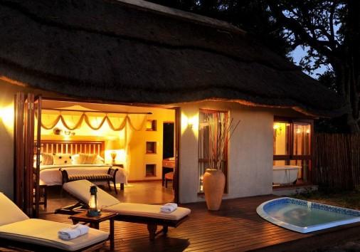 Imbali Safari Lodge Suite Evening1