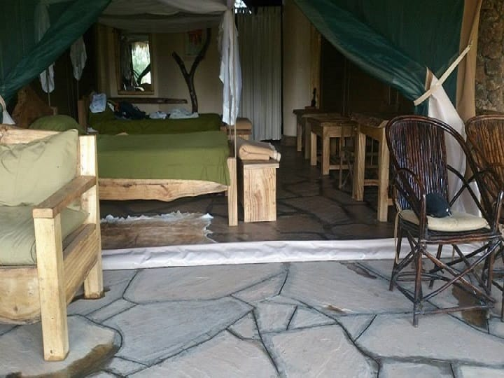 Inside A Luxury Tent In Amboseli