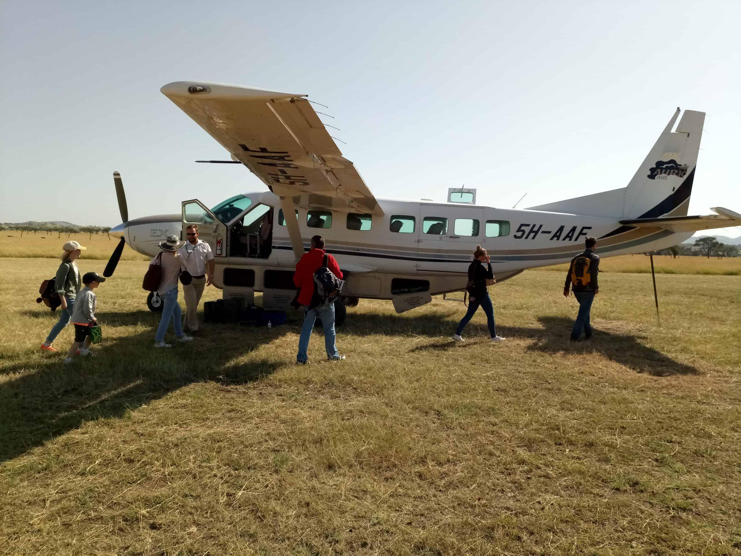 Flying Back After Serengeti Safaris