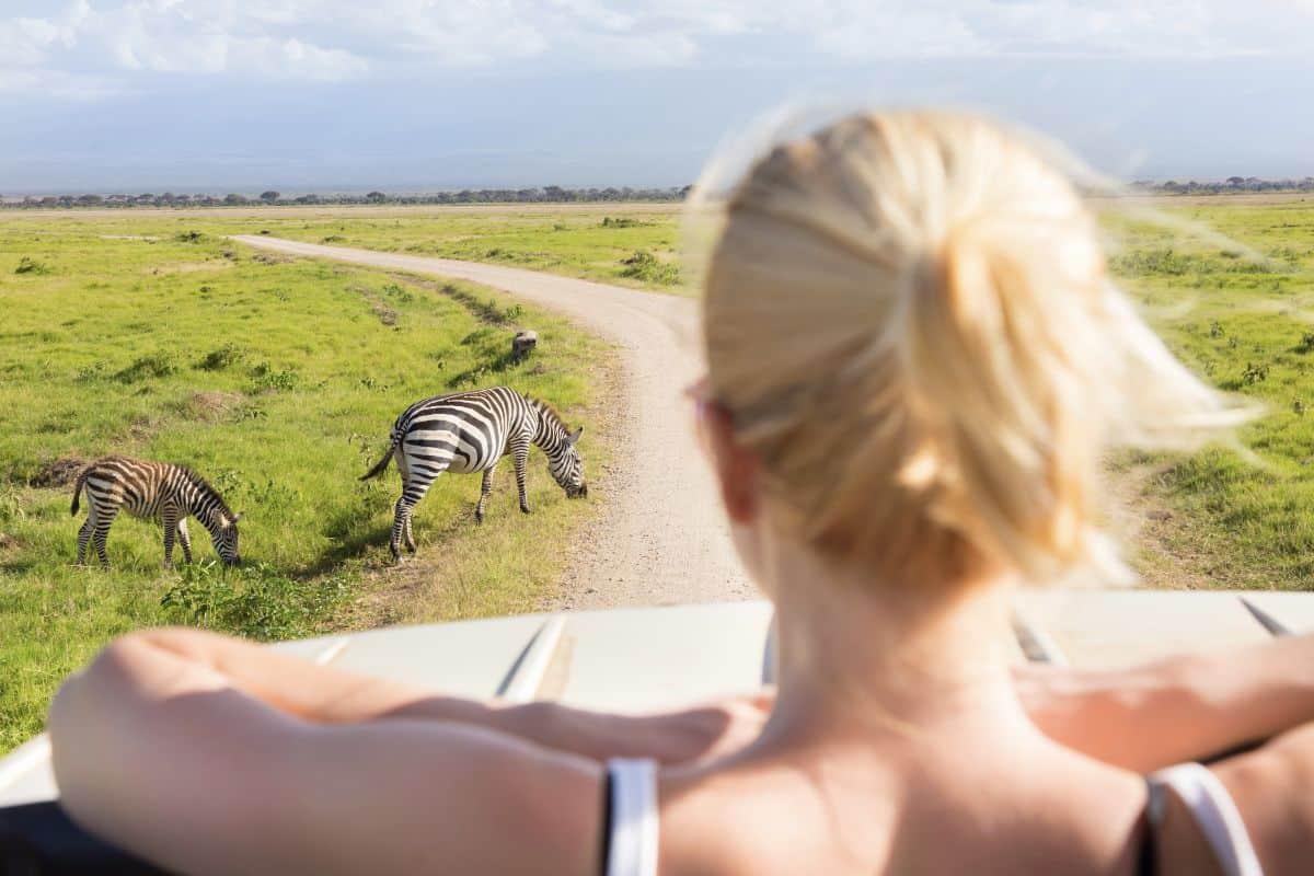Girl On Safari In Tanzania