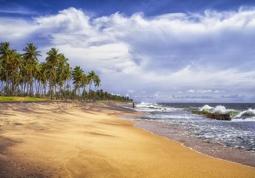 Natural Beach Of Negombo In Sri Lanka