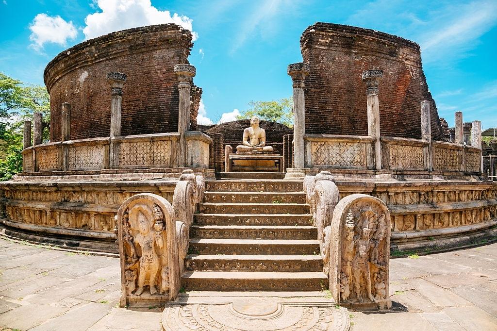 The Vatadage Temple At Polonnaruwa. Unesco World Heritage Site In Sri Lanka.