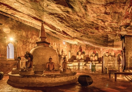 Golden Temple Dambulla, Also Known As The Dambulla Cave Temple.