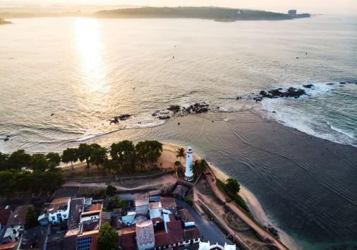 Galle Dutch Fort In Sri Lanka Aerial View