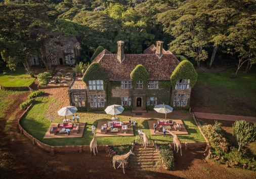 Girraffe Manor Aerial View Of Giraffe