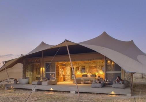 Namiri Plains Tent Exterior