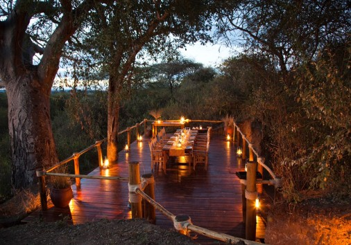 Olivers Camp Dining Terrace Under Baobab