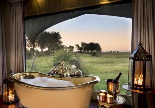Duba Plains Guest Tent Brass Bath