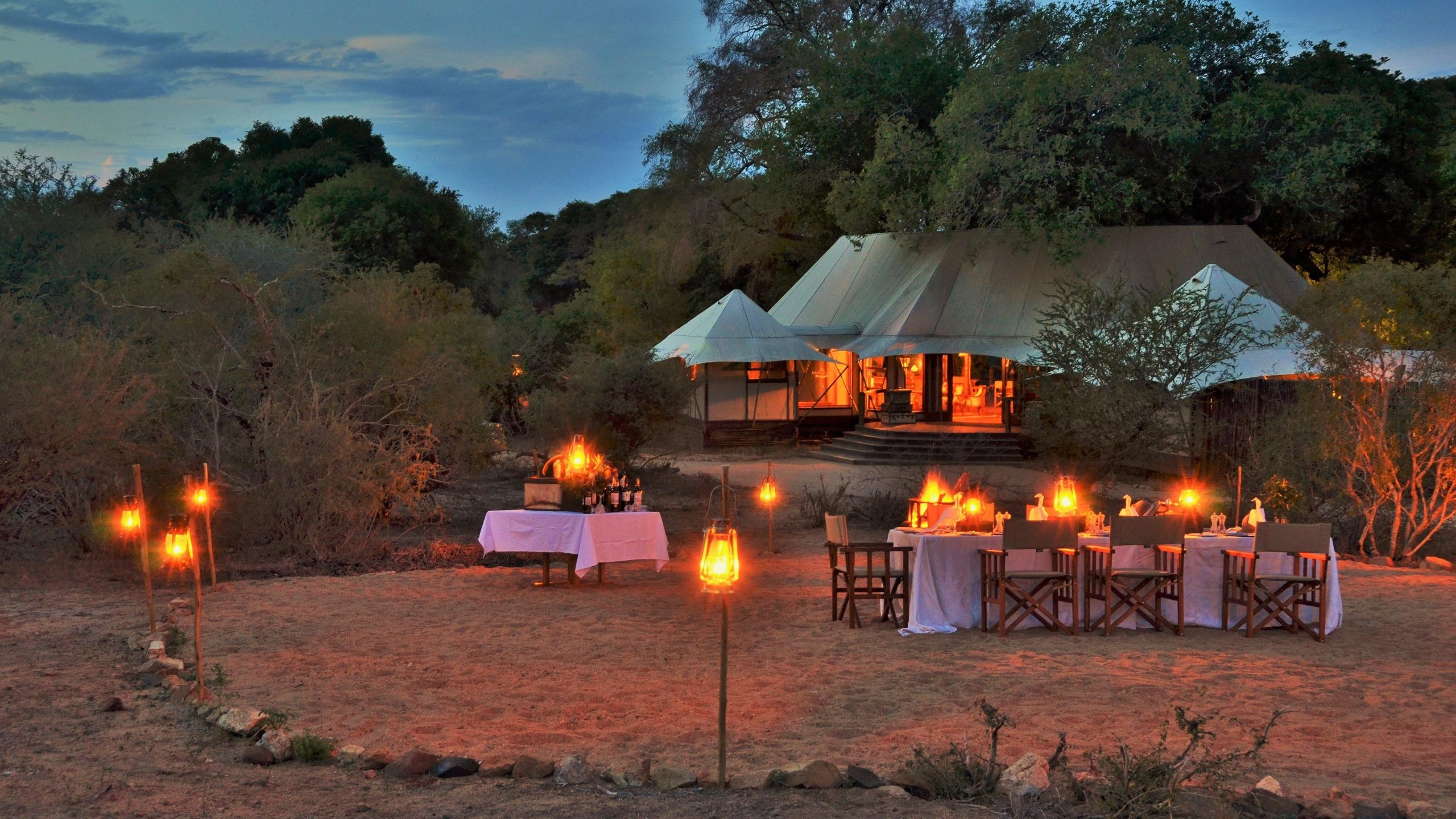 Hamiltons Tented Camp Boma Dinner