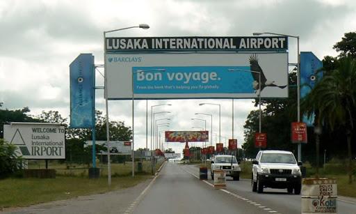 Lusaka International Airport Sign