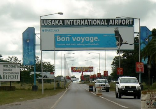 Lusaka International Airport Sign