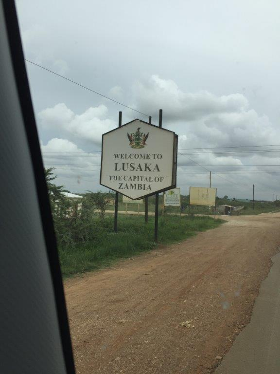 Welcome To Lusaka Sign