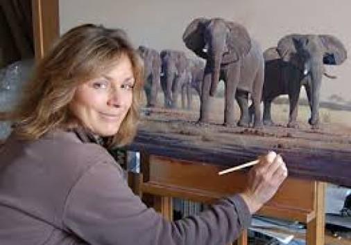 Wildlife Painting Woman