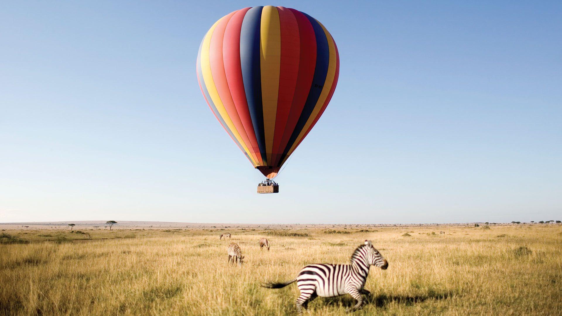 Hot Air Balloon In Tarangire National Park
