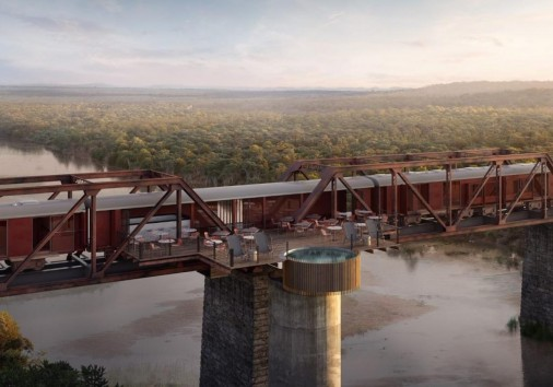 Kruger Shalati Train On The Bridge