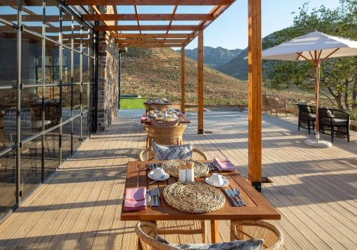 Cederberg Ridge Wilderness Lodge Alfresco Dinning