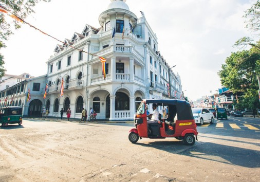 Intrepid Travel Sri Lanka Kandy Building Tuk Tuk
