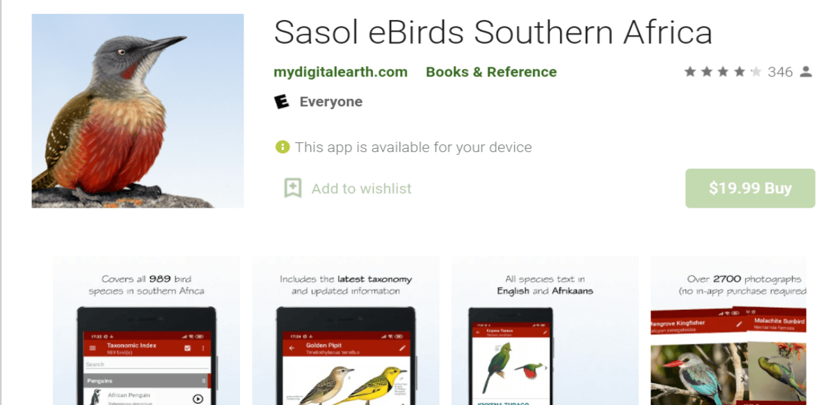 Sasol eBirds of Southern Africa